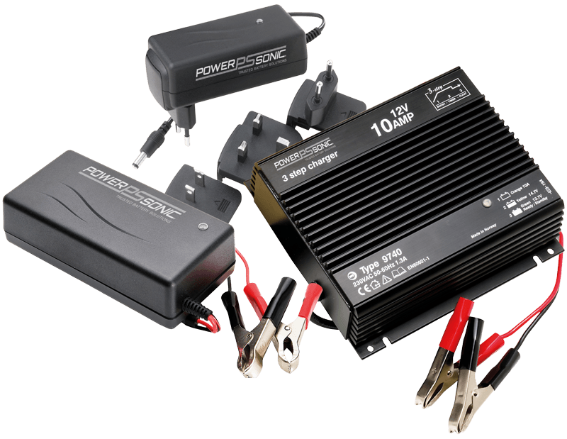 sla and lithium battery chargers