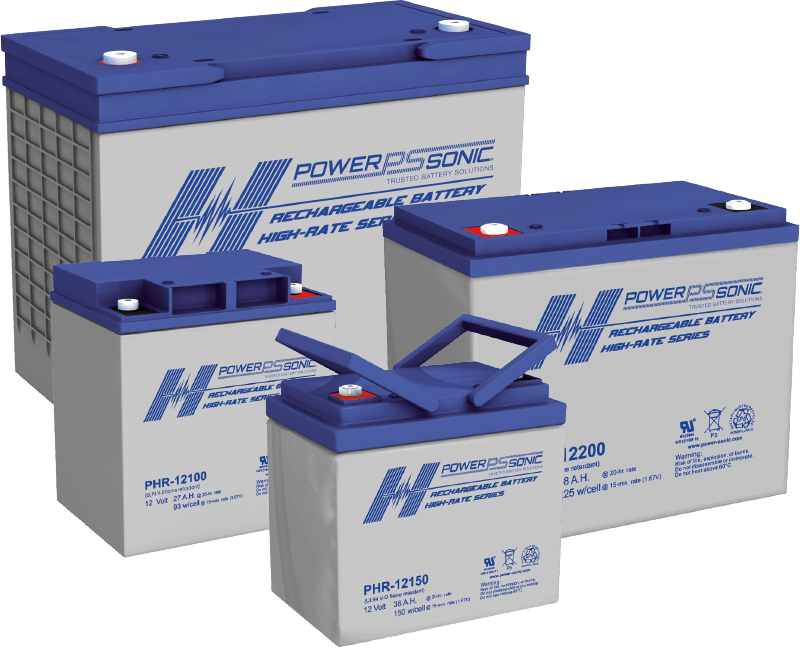 PHR high rate UPS batteries