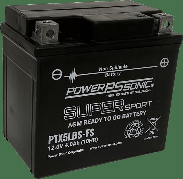 PTX5LBS-FS lead acid powersport battery