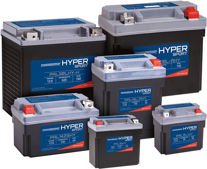 Lithium powersport batteries