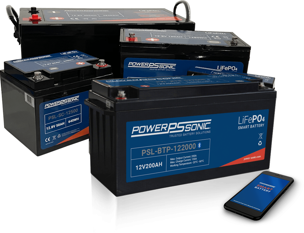 Lithium battery group shot